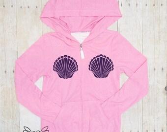 Custom jacket, jacket, Mermaid hoodie, Toddler jacket, Child, Baby, Mermaid jacket, School jacket, PRincess jacket, custom