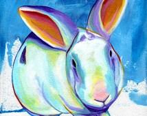 Pop Rabbit - Original Rabbit PRINT - By Corina St. Martin