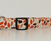 Thanksgiving Autumn Leaves Fall Dog Collar Wedding Accessories Made to Order