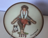 """Rockwell collector plate entitled """" Leapfrog """" Issued in 1979"""