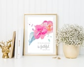 Hebrews 10:24 {Floral Instant Download. Watercolor Bible Verse. Bible Wall Art. Bible Verse for Home. Bible Verse for Dorm Room}
