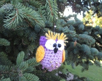 Owl - knitted toy handmade. Christmas decorations.