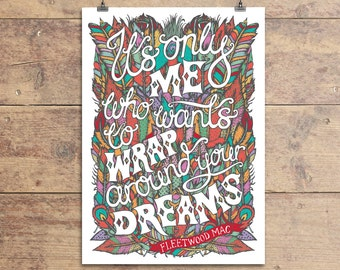 Fleetwood Mac Dreams Greeting Card