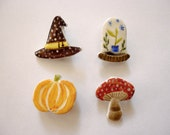 Autumn Ceramic brooch - different designs