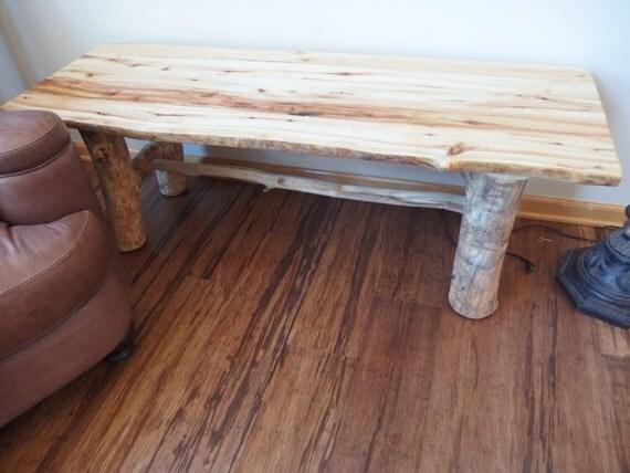 Refined rustic decor aspen log tv stand television stand for Aspen logs for decoration