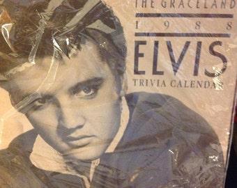 Elvis The Graceland 1988 ELVIS Trivia Calendar new unopened