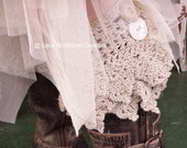 Japanese Crochet Pattern Morigirl Lagenlook Sweet Kawaii Lolita Ruffle Lace Boot Cuffs Layering Layered Teen thru Plus Size