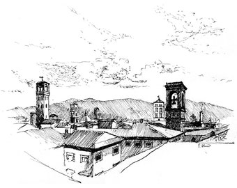 the towers of Lucca — limited edition archival print