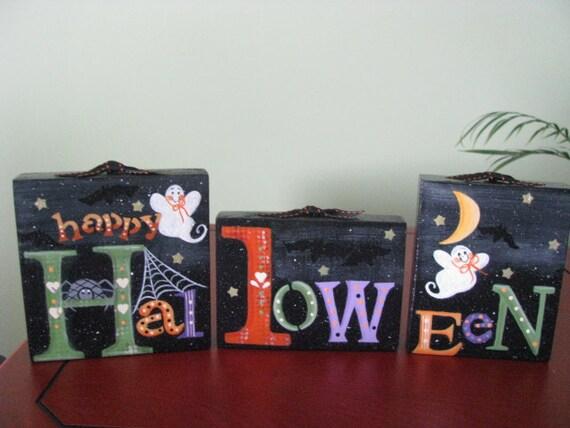 Halloween Blocks, shelf sitter, blocks, halloween, ghosts, bats, stars