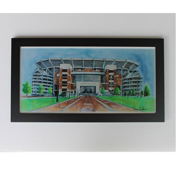 University of alabama art alabama football art print alabama for Alabama football wall mural