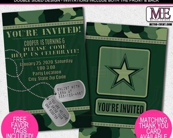 Camo Invitations, Army Invitation, Invitations, Invitation, Birthday Invitations, Camo Party Invitation, Army Invitations, Party Invitations