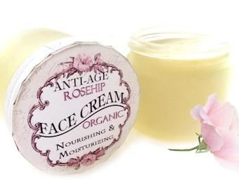 Anti Age Ultra Rich ROSEHIP Organic Face Cream Nourishing & Moisturizing