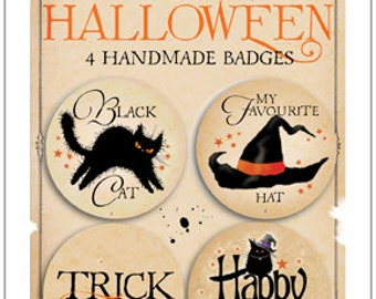 Mad Old Cat Lady NEW Halloween pin badges pack 3