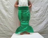 Green Scales Fairy Tale Mermaid Costume Merman Tail Kids Costume Halloween