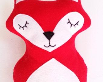 "Handmade red fox plush 10"" fox plush soft fox"