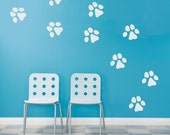 Dog Paw Prints Wall Decal - Dog Paw Decal, Paw Print Decal, Dog Wall Decal, Animals Tracks, Gifts For Dog Owner, Dog Wall Decor,