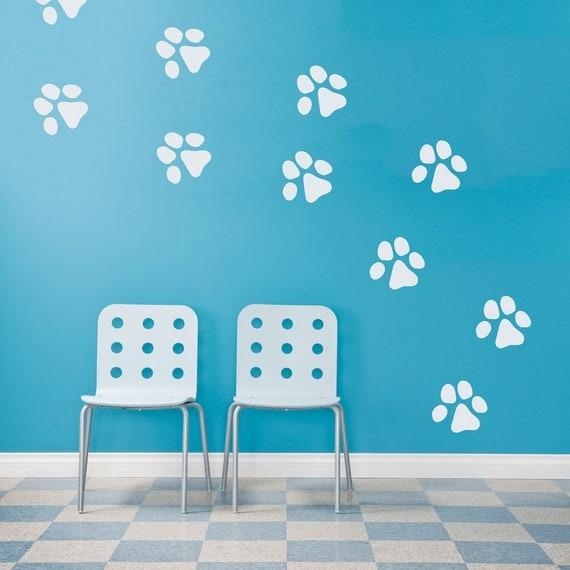 Dog Paw Prints Wall Decal Dog Paw Decal Paw Print Decal