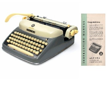 Alpina SK24 Portable Typewriter Instruction Manual Instant Download