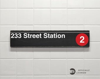 233 Street Station - New York City Subway Sign - Wood Sign
