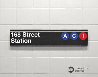 168 Street Station - New York City Subway Sign - Wood Sign