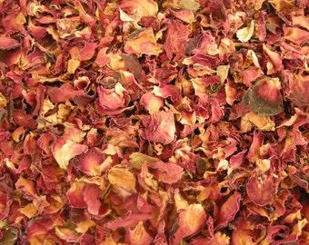 Rose Petals, Red, Dried Flowers, Rosa centifolia