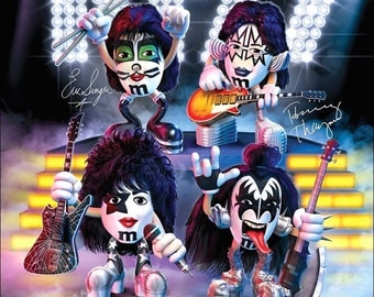 KISS / M&M's Candy Stand-Up Display - KISS Collectibles KISS Band Memorabilia Posters TShirts Posters Prints Gift Idea Retro kiss76
