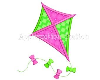 Kite Applique Machine Embroidery Design baby boy/girl INSTANT DOWNLOAD
