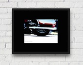 Abstract Motorcycle Wheel, Rolling Thunder: 5x7 Matted Photo