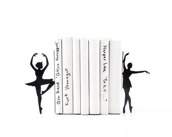 Metal Bookends Ballerinas // Passé simple // Ballet Nursery theme // Modern Home Decor / Gift for a ballet dancer // Free Shipping Worldwide