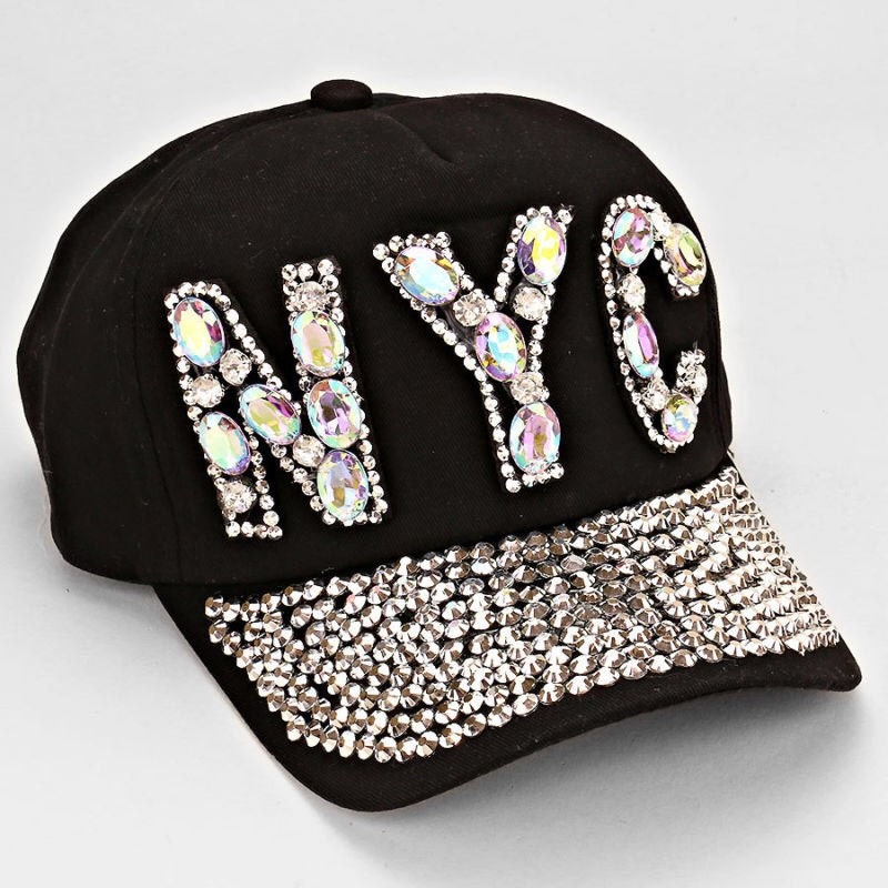 womens bling nyc hat womens baseball cap asjustable by