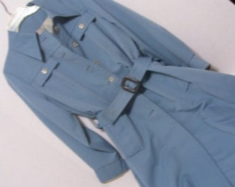 Sale Take Additional 50% Off Women's Overcoat  Trench Coat Raincoat  Blue Forecaster of Boston Size 13/14