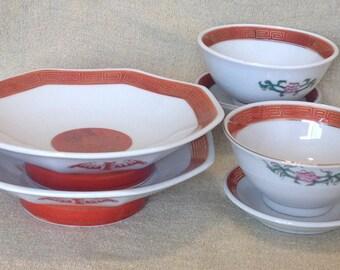 Vintage Japanese Dinnerware Set for Two