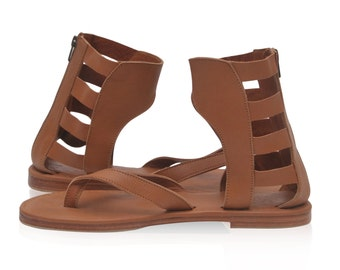 ALEXANDRIA. Sizes 35-43. Greek sandals / gladiator sandals / barefoot sandals / boho leather sandals. Available in different leather colors.