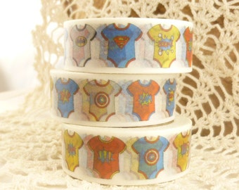 Colorful Baby Onesies Clothes Washi Tape - J2122