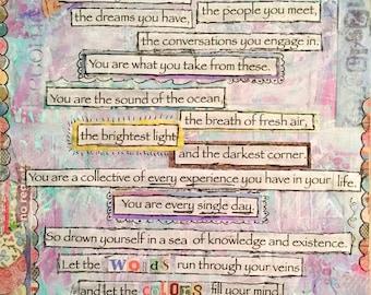"11x14 print - ""You are"" poem artwork"