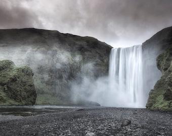"Skogafoss waterfall in Iceland 8""X12"" photograph"