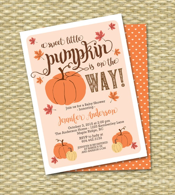Little pumpkin fall baby shower invitation gender neutral baby il570xn filmwisefo Image collections