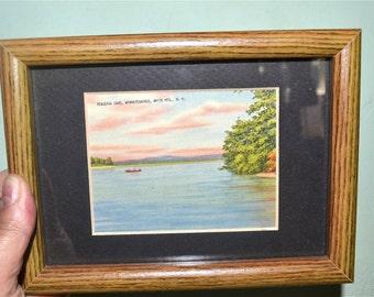 Peaceful Lake Winnipesaukee Antique  Postcard  NH Camp Memorabelia  - WA24