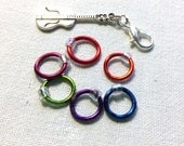 Rings and Removable Stitch Marker Set of 7