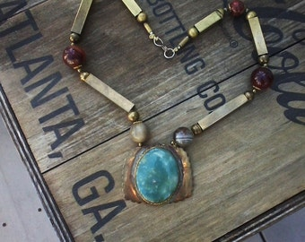 Semi Precious Stone Statement Necklace