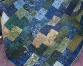 Lap Quilt, Sofa Quilt, Quilted Throw - Stormy