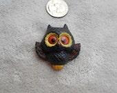 Vtg Pin-Beautiful Plastic Owl-P3863