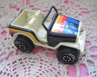 Vintage Black and colorful Metal  Jeep Tonka 1979, Vintage Tonka ,Vintage Toy Cars,Vintage Toy Jeeps, Vintage Toys,