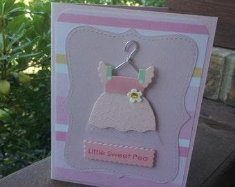 "Handmade Baby Shower Card ""Little Sweet Pea"""