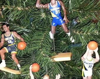 Indiana Pacers Christmas Ornaments  Reggie Miller, Mark Jackson, Detlef Schrempf, Rik Smits