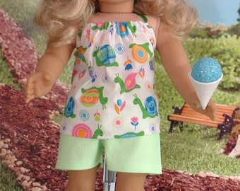 Summer Short Set with Sneakers for American Girl Dolls