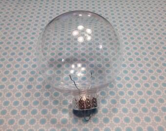 2 plastic Christmas ball ornaments, 65 mm (BR)