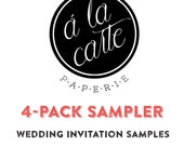 Wedding Invitation 4-PACK SAMPLER