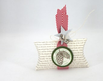 Christmas Pillow Box with Jingle Bells
