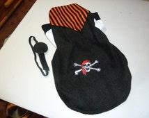 Medium - Salty Dog Pirate Fleece Doggy Costume